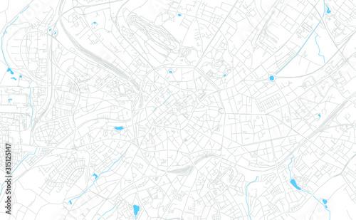 Aachen, Germany bright vector map Wallpaper Mural