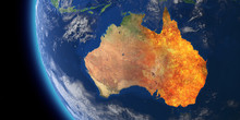 Australia Wildfire Crisis. Map...