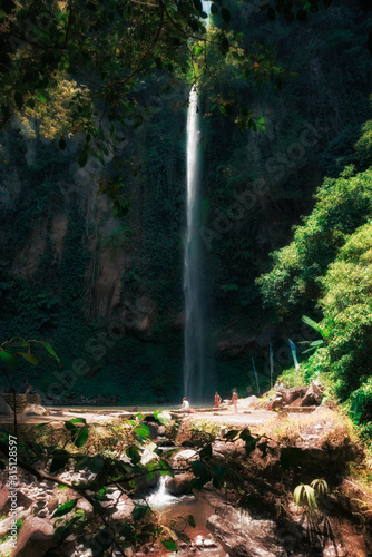 Katibawasan Falls en la isla de Camiguin, Filipinas. Wall mural