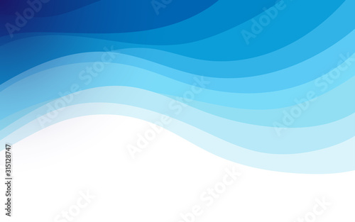 Obraz Abstract fluid blue wave banner vector background illustration - fototapety do salonu