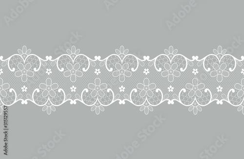 white lace border Canvas-taulu