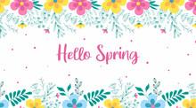 Hello Spring Background Illust...