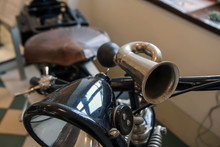 The Detail Of The Old Motorcyc...