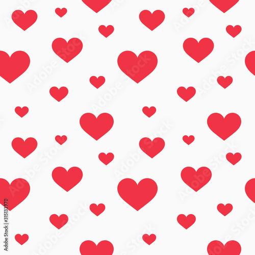 Fotografía  Red hearts seamless pattern.