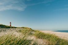 Lighthouse At Coastline, Sylt,...