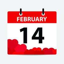 14 February Calendar Happy Valentine's Day