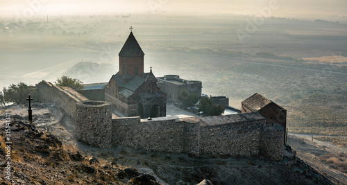 Slika na platnu Khor Virap an Armenian monastery located in the Ararat plain in Armenia, near th