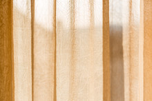 Beige Translucent Curtain With...