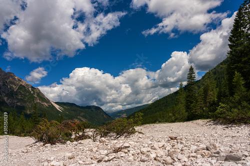 Fototapeta rockfall in the Dolomites, South Tyrol
