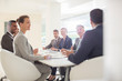 Business people meeting at conference table