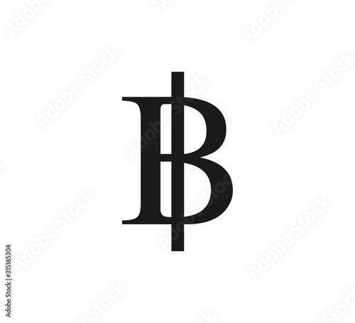 Canvas-taulu Thailand, baht icon. Vector illustration, flat design