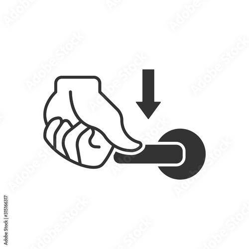 Cuadros en Lienzo flush handle icon. Vector symbol