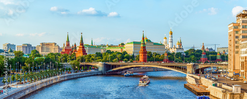Kremlin across Moskva river Canvas Print