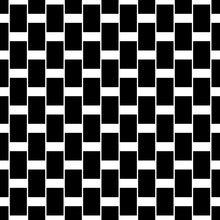 Seamless Pattern With Black Rectangles