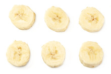 Fresh Sliced Banana Isolated O...