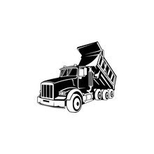 Dump Truck Vector Mining And Construction Machinery For Transporting Sand Gravel Or Dirt Industrial
