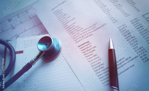 Source medical documents. Laboratory report and ranges. Medical records.