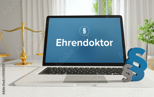 Obraz na plátně  Ehrendoktor – Recht, Gesetz, Internet
