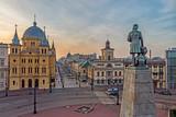 Fototapeta Miasto - Łódź- widok na Plac Wolności.