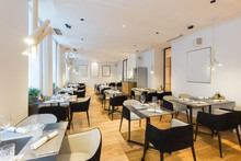 Interior Of A New Hotel Restaurant