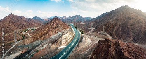 Valokuva Scenic road through Hajar mountain range stretching through UAE and Oman