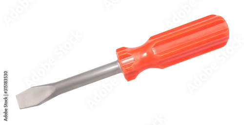 Toy screwdriver isolated on white background Wallpaper Mural