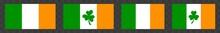 Ireland Flag Icon Green White ...