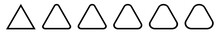 Triangle Icon Black Rounded | ...