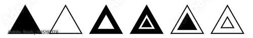Fotografia Triangle Icon Black | Label Triangles | Frame Logo | Emblem | Traffic Sign | Roa