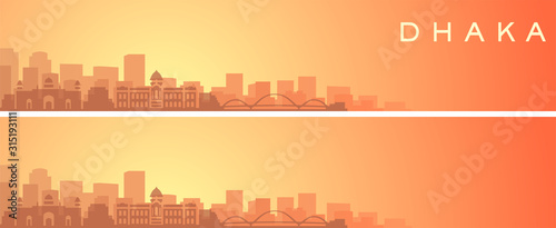 Leinwand Poster Dhaka Beautiful Skyline Scenery Banner