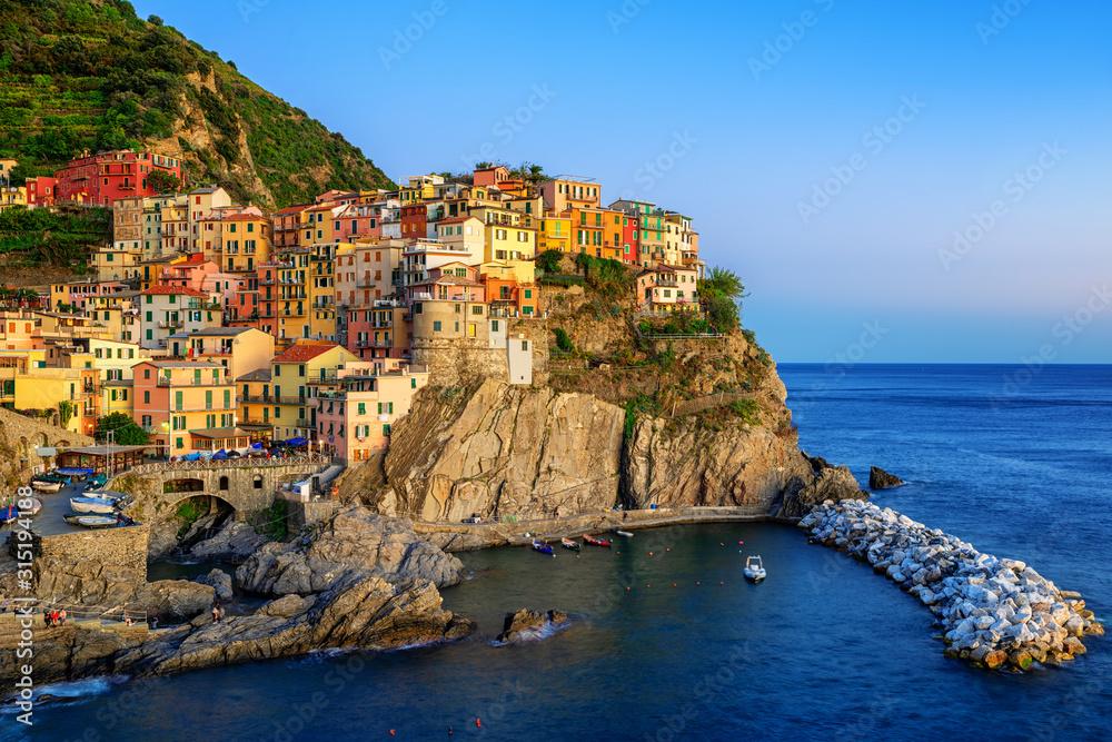 Fototapeta Manarola, Italy, a picturesque village in Cinque Terre