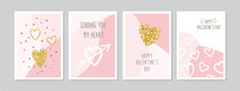 Valentine`s Day Cards Set With...