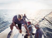 Retired Friends Sailing On Sun...