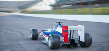 Formula One Race Car On Sports Track