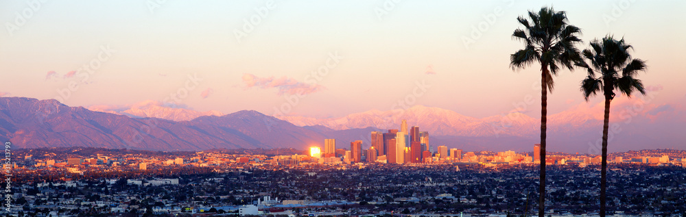 Fototapeta Downtown Los Angeles, Sunset, California