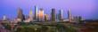 canvas print picture - Houston Skyline, Memorial Park, Dusk, Texas