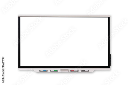 Fotografía Interactive Whiteboard isolated and white background