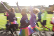 Enthusiastic Runners In Tutus ...