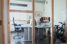 Office Behind Glass Windows