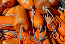 Crab Traps And Orange Floats