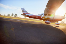 Propellor Airplane Landing On ...
