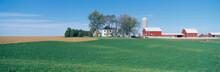 Rolling Farm Fields, Great River Road, Balltown, N.E. Iowa