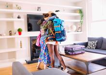 Young Women Friends Hugging, A...