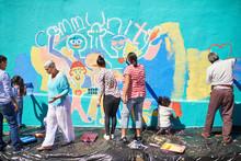 Community Volunteers Painting ...
