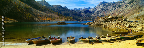 Lake Crowley, in a valley high in the Sierra Nevada Mountains, Nevada Wallpaper Mural