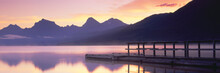 Boat Dock At Lake McDonald, Gl...