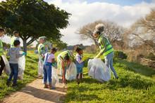 Volunteers Cleaning Up Litter ...