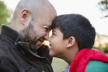 Affectionate Father And Son Ru...