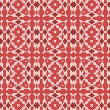 Seamless Geometric Vector Pattern With Abstract Ornament