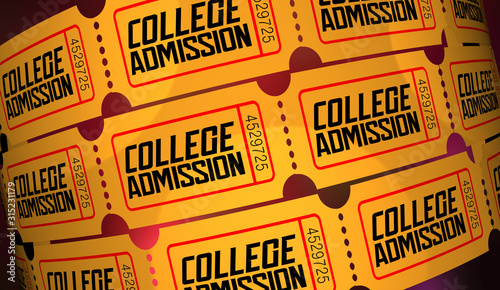 Photo College Admission Student Application Apply University Ticket Acceptance 3d Anim